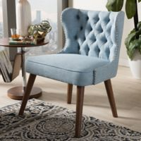 Wholesale Interiors Inc. Scarlett Accent Chair in Blue/Brown
