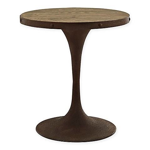 Buy modway drive 28 inch round wood top dining table in brown from bed bath beyond - Inch round wood table top ...