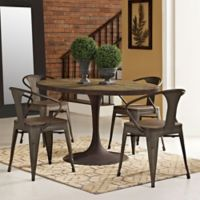 Modway Drive 60-Inch Oval Wood Top Dining Table in Brown