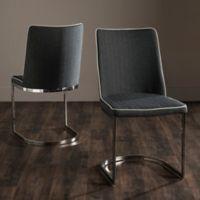 Safavieh Parkston Side Chairs in Dark Grey/White (Set of 2)