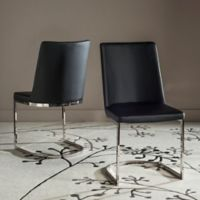 Safavieh Parkston Side Chairs in Black (Set of 2)