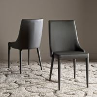 Safavieh Summerset Polyurethane Side Chair in Grey (Set of 2)