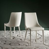 Safavieh Summerset Polyurethane Side Chair in Buttercream (Set of 2)