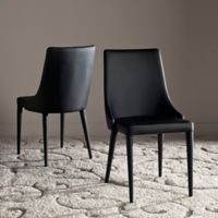 Safavieh Summerset Polyurethane Side Chair in Black (Set of 2)