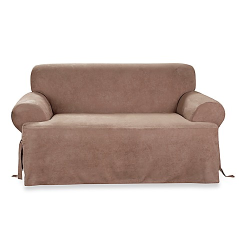 soft suede sable t cushion slipcovers by sure fit bed