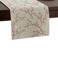 72-Inch Embroidered Fall Leaves Runner in Natural