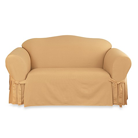 Cotton Duck Gold Loveseat Slipcover By Sure Fit Bed Bath Beyond
