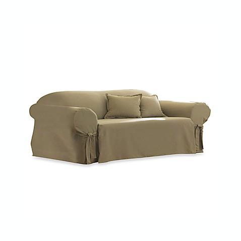Cotton Linen Duck Sofa Slipcover By Sure Fit 174 Bed Bath