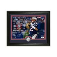 """NFL Tom Brady """"Quote"""" Photo Mint"""