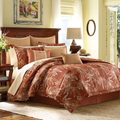 Tommy Bahama Cayo Coco King Duvet Cover Set In Rust