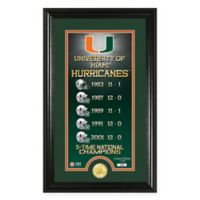 "NCAA University of Miami ""Legacy"" Supreme Bronze Coin Photo Mint"