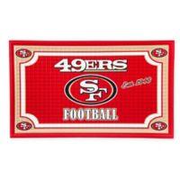 NFL San Francisco 49ers Embossed Door Mat
