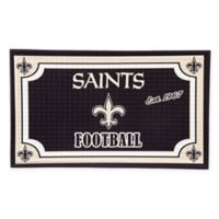 NFL New Orleans Saints Embossed Door Mat