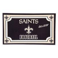NFL New Orleans Saints Embossed Door Mat
