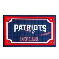 NFL New England Patriots Embossed Door Mat