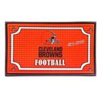 NFL Cleveland Browns Embossed Door Mat