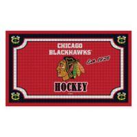NHL Chicago Blackhawks Embossed Door Mat
