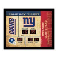 NFL New York Giants Bluetooth Scoreboard Wall Clock