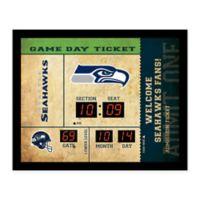 NFL Seattle Seahawks Bluetooth Scoreboard Wall Clock