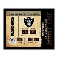 NFL Oakland Raiders Bluetooth Scoreboard Wall Clock
