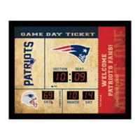 NFL New England Patriots Bluetooth Scoreboard Wall Clock