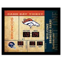 NFL Denver Broncos Bluetooth Scoreboard Wall Clock