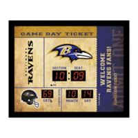 NFL Baltimore Ravens Bluetooth Scoreboard Wall Clock