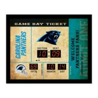 NFL Carolina Panthers Bluetooth Scoreboard Wall Clock