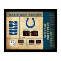 NFL Indianapolis Colts Bluetooth Scoreboard Wall Clock