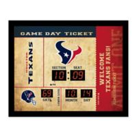 NFL Houston Texans Bluetooth Scoreboard Wall Clock