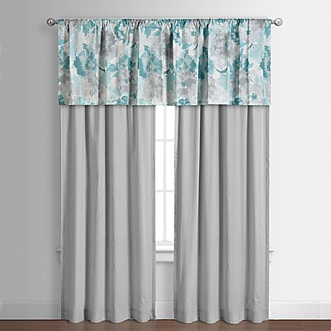 Claire 84 Inch Window Curtain Panel Pair In Teal Bed