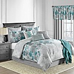 Claire 10-Piece Queen Comforter Set in Teal