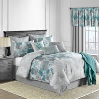 Claire 10-Piece King Comforter Set in Teal
