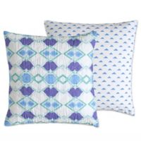 Amy Sia Pastel Diamond 18-Inch Square Throw Pillow in White/Blue/Purple