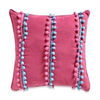 Emily Pom-Pom 16-Inch Square Throw Pillow