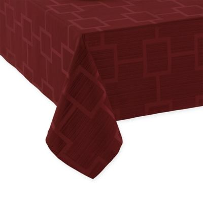 Origins™ Tribeca Microfiber 52 Inch X 70 Inch Oblong Tablecloth In Wine