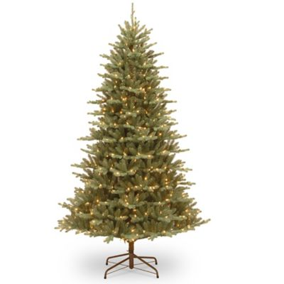 Great National Tree 7.5 Foot Asbury Blue Spruce Pre Lit Christmas Tree With Clear  Lights