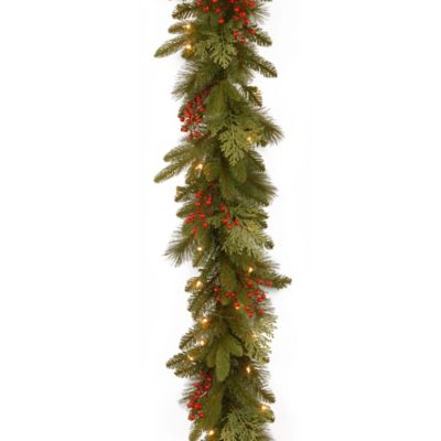 National Tree Classical Collection 9-Foot Garland with Clear Lights