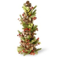 National Tree 33-Inch Holly and Berry Tree