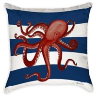 Nautical Octopus Indoor/Outdoor Throw Pillow
