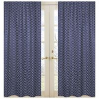 Sweet Jojo Designs Arrow Window Panel Pair in Navy/White