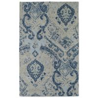 Cozy Toes Tehran Modern 3-Foot x 5-Foot Accent Rug in Blue