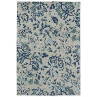 Kaleen Cozy Toes Impressions 5-Foot x 7-Foot Area Rug in Blue