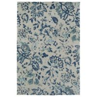 Kaleen Cozy Toes Impressions 8-Foot x 10-Foot Area Rug Blue
