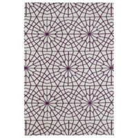 Kaleen Cozy Toes Tile Garden 2-Foot x 3-Foot Accent Rug in Purple