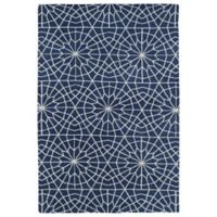 Kaleen Cozy Toes Tile Garden 8-Foot x 10-Foot Area Rug in Denim
