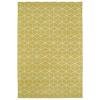 Kaleen Cozy Toes Cubes 3-Foot x 5-Foot Accent Rug in Yellow