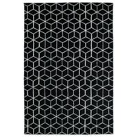 Kaleen Cozy Toes Cubes 5-Foot x 7-Foot Area Rug in Black