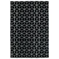 Kaleen Cozy Toes Cubes 8-Foot x 10-Foot Area Rug in Black