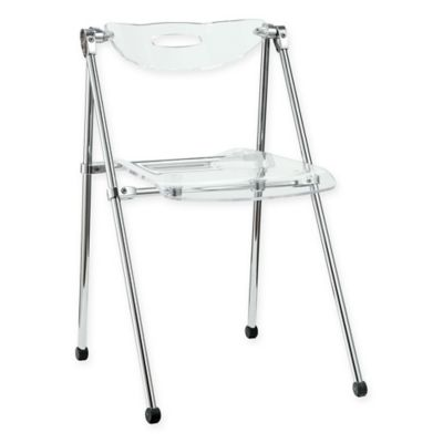 Modway Telescope Folding Chair In Clear